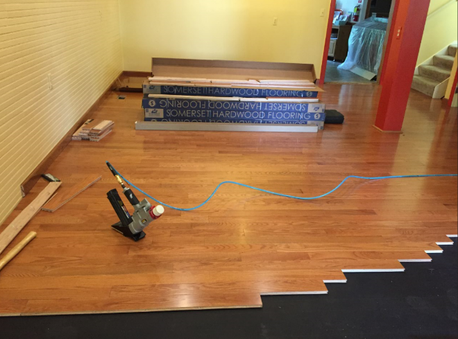 Floor Installation In Progress