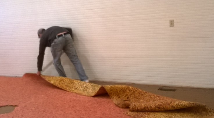 Removing the carpet padding