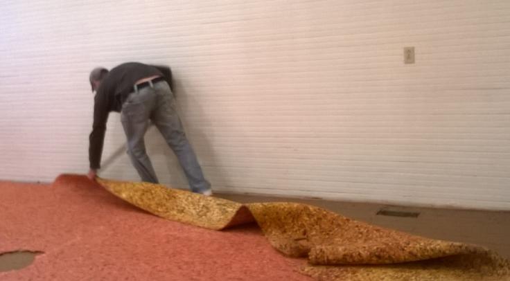 Removing the carpet padding