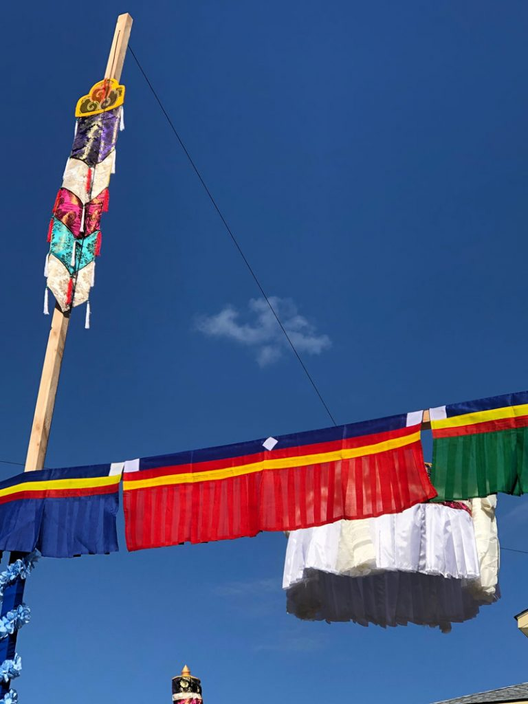 Double Dorje in the clouds